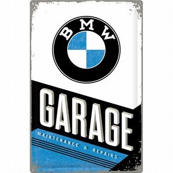 BMW Garage metalen wandbord XXL  60 x 40 cm