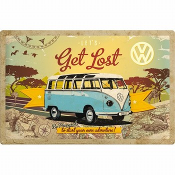 Volkswagen Vw get lost metalen wandbord mat XXL