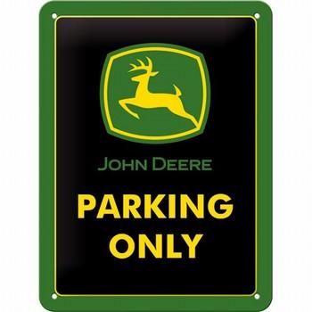John Deere parking only klein metalen wandbord