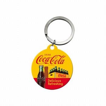 Coca cola geel rood sleutelhanger
