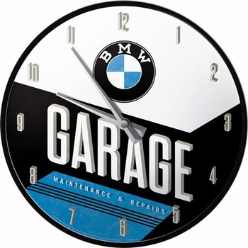 BMW garage wandklok