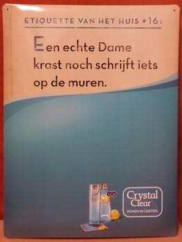 Crystal clear krijtbord wandbord muren