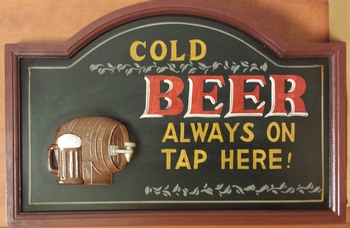 Cold beer always on tap pubbord  60 x 40 cm