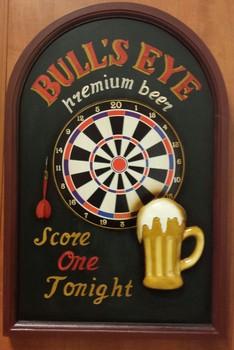 Darts Bulls eye pubbord  60 x 40 cm