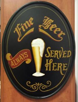 Fine beer served here pubsign