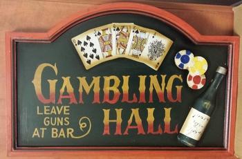 Gambling hall fles kaarten pubbord  60 x 40 cm