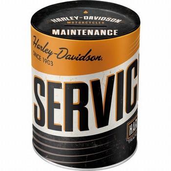 Harley davidson service en repair spaarpot  10 x 13 cm