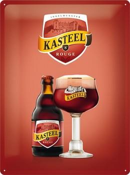 Kasteel bier rouge reclamebord met relief