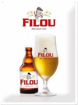 Filou Belgian alt bier reclamebord met relief