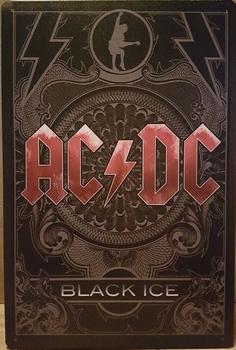 ACDC Black ice wandbord metaal ac dc  30 x 20 cm