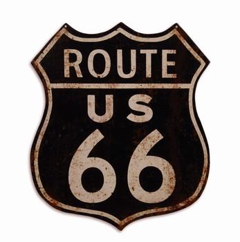 Route 66 uitgesneden wandbord metaal