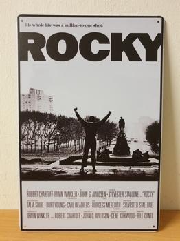 Rocky balboa reclamebord van metaal