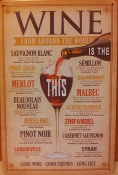 Wine around the world metaal