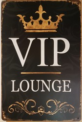 VIP lounge metalen wandbord