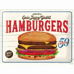 Hamburgers epic juicy giant relief wandbord