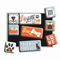 Love dogs magneetset van 9 stuks