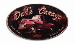 Dads garage tools rules metalen wandbord xl