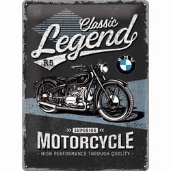 BMW classic legend motor relief reclamebord
