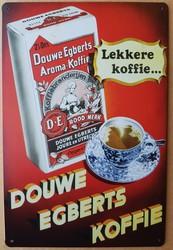 Douwe egberts koffie metalen wandbord