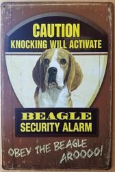 Beagle hond security  alarm metalen bord