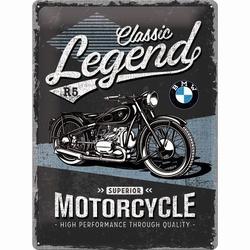 BMW Classic legends metalen relief reclamebord