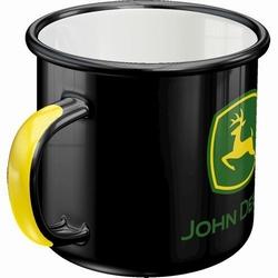 John deere black logo emaille mok
