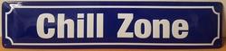 Chill zone metalen wandbord straatnaambord relief