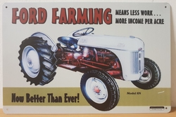 Ford farming metalen reclamebord tractor