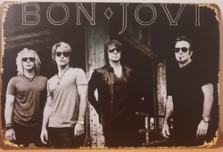 Bon Jovi metalen reclamebord