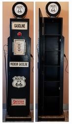 Route 66 XXL benzinepomp kast houten dvd kast  met lamp