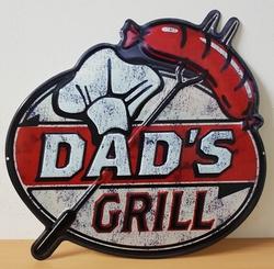 Dads grill metalen wandbord uitgesneden