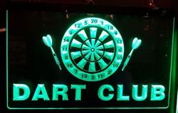 Darts club Led lamp groen ledverlichting darten