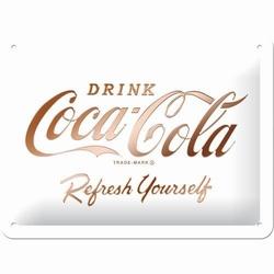 Coca cola refresh yourself wit metalen relief bord