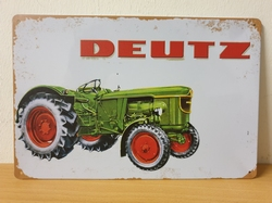 Deutz tractor old look metalen wandbord