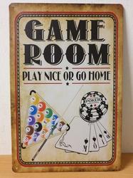 Game room poker biljard kaarten metalen wandbord