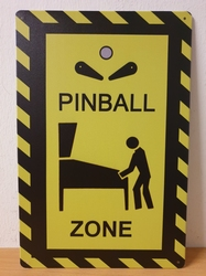 Pinball zone warning sign metalen bord
