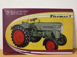Fendt farmer tractor metalen wandbord