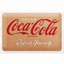 Coca cola cardboard metalen wandbord relief