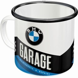 BMW garage emaille mok