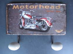 Motorhead kapstok 2 wandhaken
