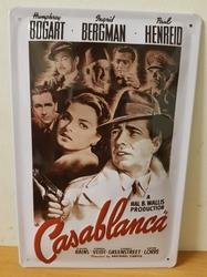 Casablanca bogart film metalen reclamebord  RELIEF
