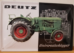Deutz universalschlepper metalen reclamebord RELIEF