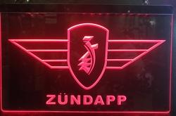 Zundapp logo rode led lamp verlichting