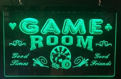 Game room good times friends groene led lamp