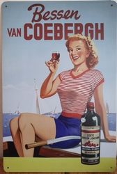 Bessen van Coebergh reclamebord metaal