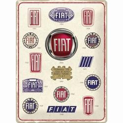Fiat logo evolution origineel metalen relief reclame