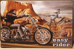 Easy rider vlak Reclamebord metaal