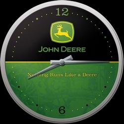 John Deere logo klok
