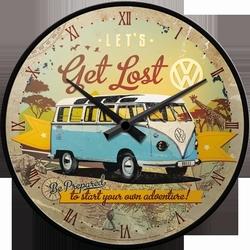 Volkswagen VW Get lost T1 Bus klok