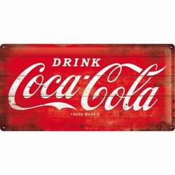Coca cola logo rood groot relief